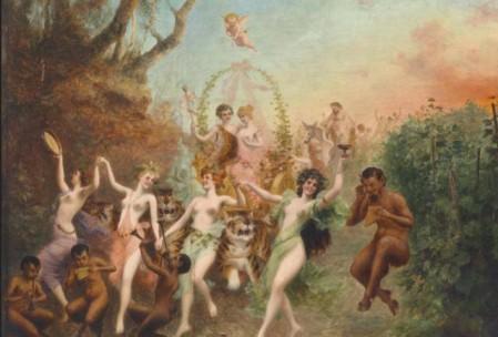 Moritz Stifter (1857-1905)- Fest der Faune und Nymphen.