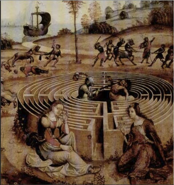 Correggio: Labirinto, Teseo, Arianna, Centauro