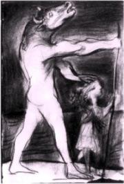 Picasso: Minotauro cieco -1954