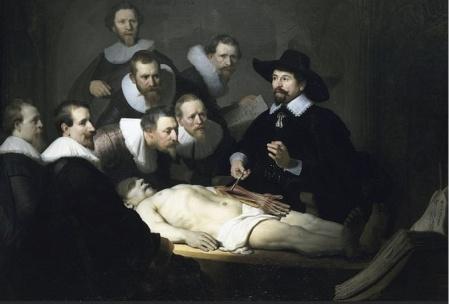 Rembrand Lezione di anatomia Tulp