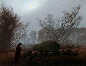 Caspar David Friedrich, Spaziergang am Abenddämmerung