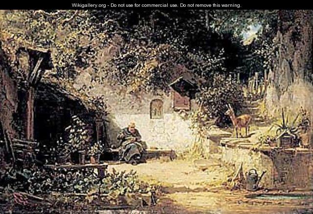 Carl Spitzweg Hermit vor der Klause, 1858-1860