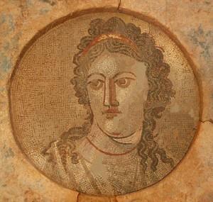 Mnémosyne (dea del ricordo), Mosaico murale (2° secolo)